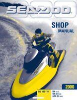 Sea-Doo 2000, RX, RX DI, GTX DI Service Shop Repair Manual 219100110 Free S&H