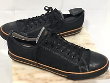 HARLEY DAVIDSON HD Black LOW TOP  LEATHER  LACE UP SHOES Size 12 MEN'S D93197