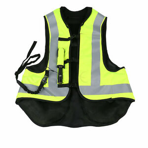Fluorescent yellow Motorbike Air Bag Airnest Airbag Vest Hi Visibility Size L
