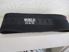 World Gym USA Nero Cintura da uomo di formazione