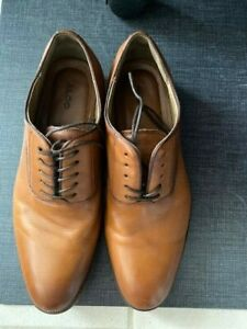 ALDO Mens Brown Cow Leather Lace Up Shoes Size 10.5