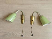 2 x Wandlampe Wanndeuchte Paar Lochblech Perforiert Stilnovo Ära 50er 60er Jahre