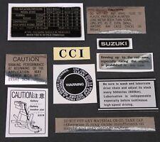 SUZUKI GT550 WARNING DECALS SET OF 10