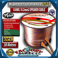 M High Performance 8AWG 8.2mm2 100% Ultra Pure OFC Audio Cable Speaker Wire