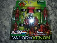 Gi joe hasbro cobra imperial procession valor vs venom cobra commander baroness
