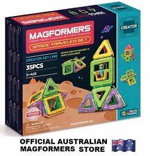 Genuine MAGFORMERS Space Traveler Set 35 pcs - 3D Magnetic construction building