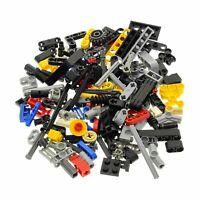 100 Lego Technic Teile z.B. Pin Stecker Kreuz Stange Achse Zahnrad bunt gemischt