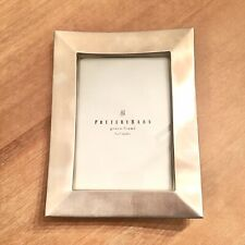 Pottery Barn 5x7 Chrome Silver Heavy Metal Table Top Photo Picture Greco Frame