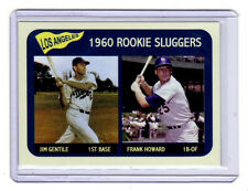 Frank Howard & Jim Gentile Rookie Sluggers '60 LA Dodgers Vintage Litho