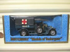 MATCHBOX VRare LESNEY YESTERYEAR Y13 CHARCOAL Roofs 1918 CROSSLEY RAF TENDER MiB
