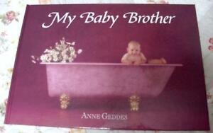 NEW ANNE GEDDES MY BABY Brother BABY BOOK Journal Great Gift Rare Baby Firsts
