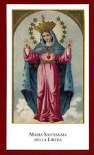 santino HOLY CARD MARIA SANTISSIMA della LIBERA   SANTINI