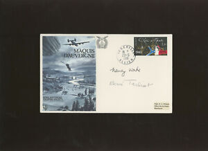 1981 Maquis D'Auvergne RAF Escaping Society cover signed Nancy Wake Henri Tardia