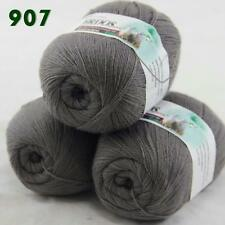 Sale Lot of 3 Balls x50gr LACE Soft Acrylic Wool Cashmere hand knitting Yarn 907