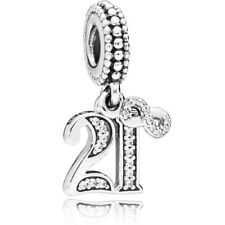 PANDORA 21 Charm - Sterling Silver - priced to sell