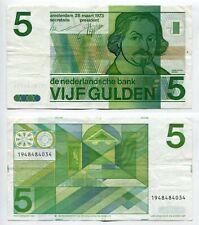 5 Gulden Niederlande 28.3.1973  Erhaltung III-, P. 95a