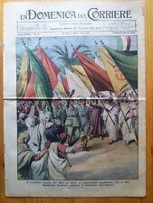 La Domenica del Corriere 28 marzo 1937 Duce Libia - Bahia Blanca - Guadalajara