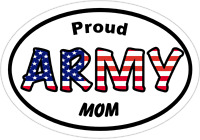 Proud Army Mom Vinyl Decal - Army Window Sticker - Military Gift