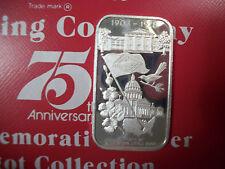 999 1 TO FINE SILVER INGOT BAR COCA COLA COKE LITTLE ROCK, ARKANSAS 75TH ANN