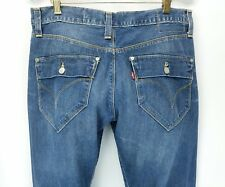 Levi's engineered jeans mens size 32x34 denim blue distressed retro STAINS  A6-1