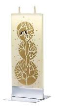 Flatyz Handmade Twin Wick Unscented Thin Flat Candle - Golden Winter