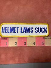Vtg Anti-Helmet Law Motorcycle / Biker Patch Helmet Laws Suck 75Y4