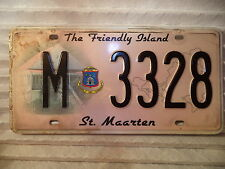 St Maarten NA Used License Plate Tag Dutch Carribean Island original V 3328 149