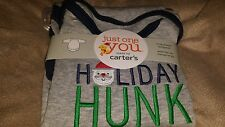 NWT Carter's Just One You Baby Long Sleeve Bodysuit Holiday Hunk 3 Months Santa