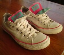 WHITE CONVERSE ALL STAR TRAINERS SIZE 5 EUR 37.5