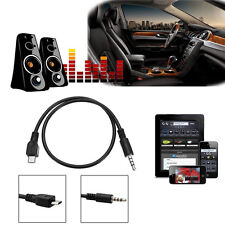 MICRO USB MALE TO 4-POLE 3.5MM MALE JACK CAR AUDIO AUX CONNECTOR CABLE LEAD CORD