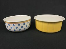 Villeroy & Boch Twist-Anna Vegetable Serving Bowl & Yellow Souffle Baking Dish