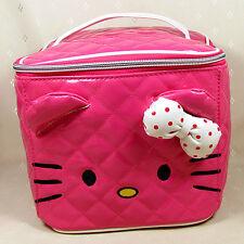 HelloKitty Hot Pink  Cosmetic Makeup Bag Case 2017  New Lady Girl Women Big Size