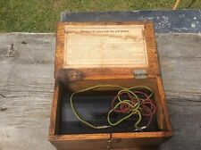 Vintage Battery Charger, Wood Dovetail Box, Rheotome ?