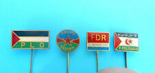 PALESTINE PLO SWAPO NAMIBIA EL SALVADOR LIBRE FRONT POLISARIO lot of 4 pin badge