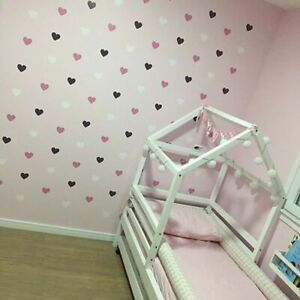 Wall Sticker Heart Shape For Kids Room Girl Room Decorative Stickers Decoration