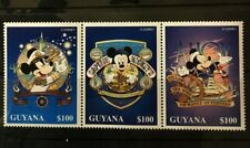 Mickey Mouse Disney mnh strip 3 stamps 1996 Guyana #3092 Sailor Sextant Sailing