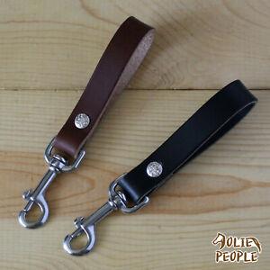 Handmade Key Fob Belt Loop Keychain Purse Strap_Stainless Steel Snap Hook