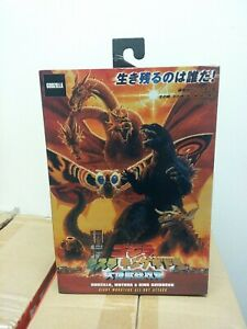 GODZILLA MOTHRA KING GHIDORAH ALL OUT MONSTERS ATTACK GODZILLA FIGURE NECA MIB