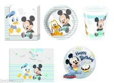 Decoración y menaje de papel para mesas de fiesta de Mickey Mouse