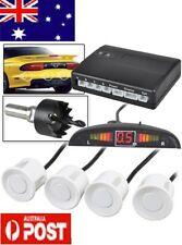 Parking Sensor Car LED Display 4 Four Reverse backup Radar System White AU