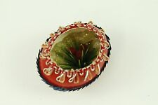 Vintage Red Painted Cutout Egg Christmas Ornament Holiday Tree Decoration