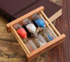 Hourglass Timer 1/3/5Min Wood Frame Glass Sand Sandglass Clock Time Decor Gift