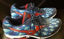 Mizuni Wave Elixir 8 Red Blue Running Shoes  Mens size 14
