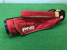 NICE Vintage PING GOLF Karsten RED Lightweight SUNDAY BAG Single Carry Strap