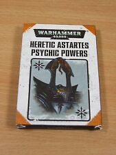 OOP WARHAMMER CHAOS HERETIC ASTARTES PSYHIC POWERS CARDS COMPLETE SET (618)