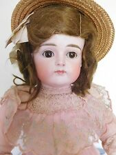 "Wow! Kestner XI Closed Mouth 17""  Bisque Child Great Body & Clothes Orig. Wig"
