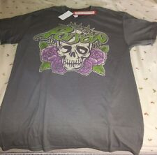 NWT Poison Skull T Shirt Distressed Live Nation Mens Small Gray Bret Michaels