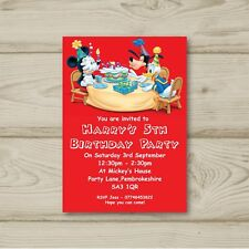 Mickey Mouse Donald Duck Goofy Birthday Party Invitations Personalised