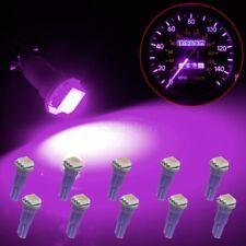 10Pcs 58 70 73 74 T5 Dashboard Panel Gauge LED Wedge Bulbs Purple Light 5050-SMD