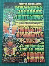 Acoustic Syndicate 2000 String Cheese Incident poster Michael Everett FREE SHIP